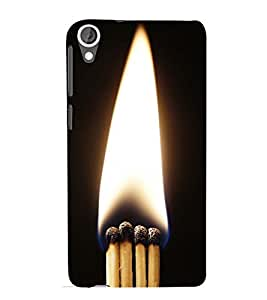 MATCHSTICKS SHOWING THE PURITY OF A FLAME 3D Hard Polycarbonate Designer Back Case Cover for HTC Desire 820::HTC Desire 820Q::HTC Desire 820S