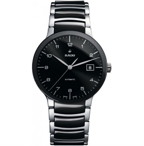 Rado Centrix Automatic Black Dial Two-Tone Ceramic Mens Watch R30941162