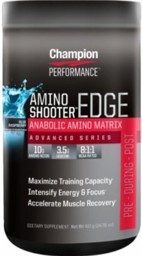 Champion Nutrition Amino Shooter Edge Supplement, Fruit Punch, 14 Ounce