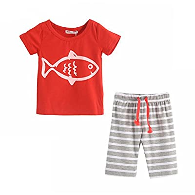 LittleSpring Little Boys' Clothing Short Sets Striped