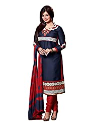 Varanga Grey Embroidered Dress Material with Matching Dupatta KFCRI3601