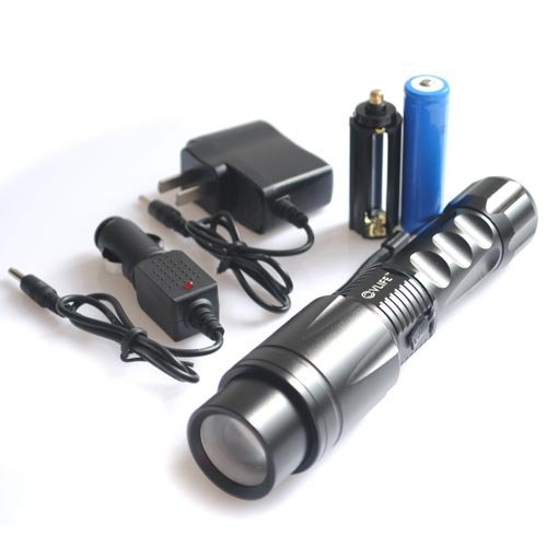 Cvlife 2000 Lm Cree Xm-L T6 Led 18650 Flashlight Zoom Focus Torch Lamp Light