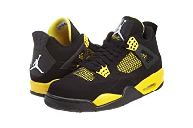 Air Jordan 4 Retro (Thunder) Black/White-Tour Yellow (9.5)