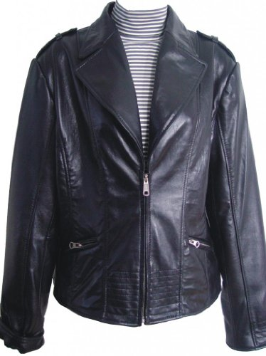 Paccilo FREE tailoring Women 4013 PETITE Size Lamb Leather Jacket