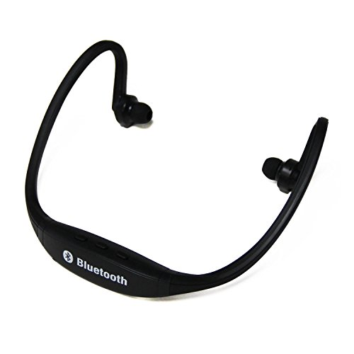Gslc(Tm) Sports Universal Wireless Music Stereo Bluetooth Headset Universal Headset Earphone Headphone For Cellphones Such As Iphone, Nokia, Htc, Samsung, Lg, Moto, Pc, Ipad, Psp And So On & Enabled Bluetooth(Black)