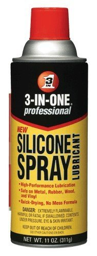 "3-In-One 10041 Silicone Spray Lubricant, Aerosol Can, 11 Fluid Ounce, 3"" OD, 2.63"" Length"