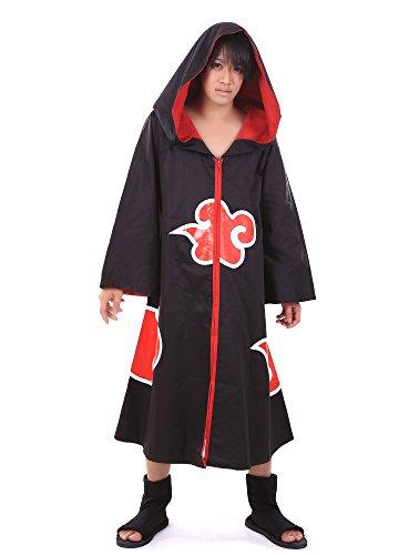 [ICEMPs Naruto Cosplay Costume Deidara Kisame Sasori Pain Akatsuki Member V1 Robe] (Naruto Deidara Cosplay Costume)