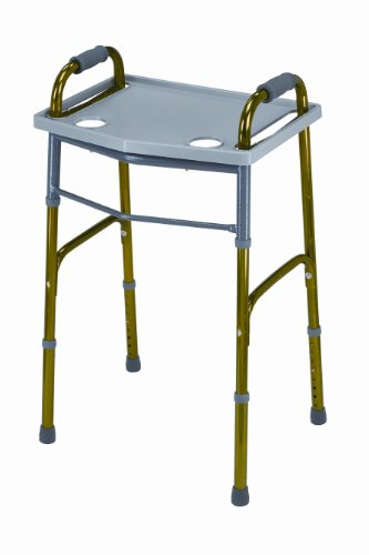 Mabis Dmi Healthcare Universal Walker Tray, Gray, One front-534739