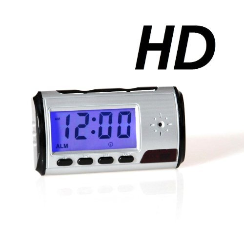 8GB HD Spy Clock with motion sensor (motion detection), Design sch picture