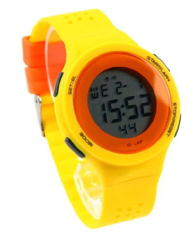 Korean Retro Girls Students Contrast Color Led Sport Watches Yellow