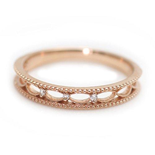 [ココカル]cococaru ダイヤモンド リング K10 ホワイトゴールド 指輪 天然 ダイヤ 日本製