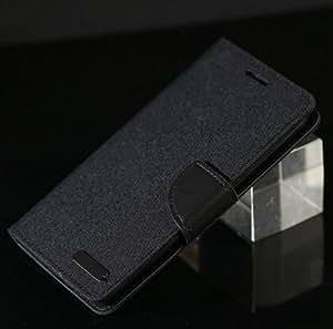 Online Street Premium Flip Cover For MOTOROLA MOTO G2 - (Dark Black)