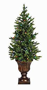#!Cheap Bethlehem Lighting 5' Noble Fir Christmas Tree with Urn - Multicolor Lights