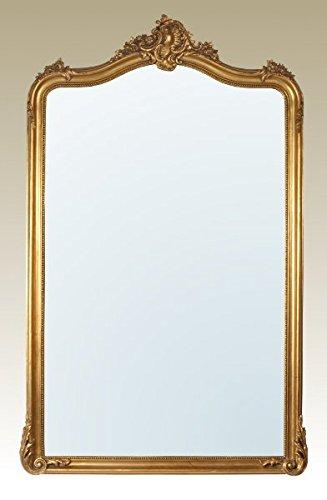 Gold Gilt Leaf Bevelled Mirror Width: 113cm