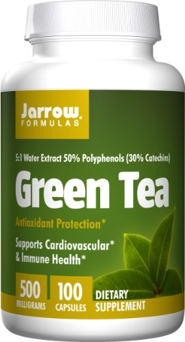 Jarrow Formulas Green Tea, Supports Cardiovascular & Immune Health, 500 mg, 100 Caps (Green Tea Extract Capsules compare prices)