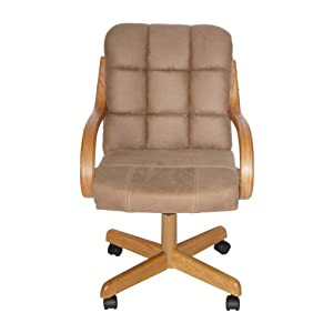 Casual Dining Cushion Swivel And Tilt Rolling Caster Chair Chairs