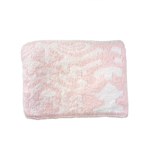 Kashwere Damask Throw In Pink/White front-1012513