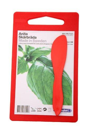 Linden Sweden Daloplast Anita Small Prep Cutting Boards (Red)