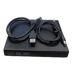 AGPtek USB2.0 External 8x DVD+/-RW DL Slim Burner/Drive Read/write CD DVD Drive for MSI Wind U100 U120 U123 VR220 EX300 seires Laptops USB2.0
