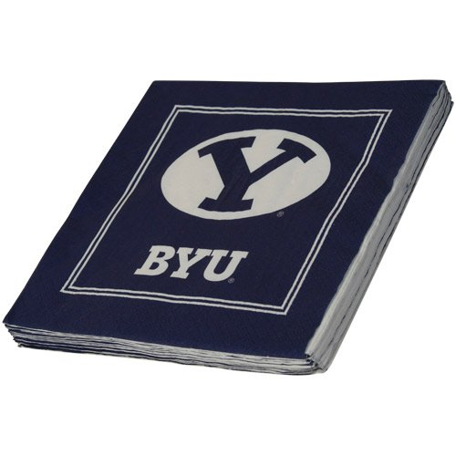 NCAA Brigham Young Cougars 16-Count Luncheon Napkins - 1