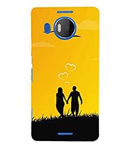 Couple Love Dreams 3D Hard Polycarbonate Designer Back Case Cover for Nokia Lumia 950 XL :: Microsoft Lumia 950 XL