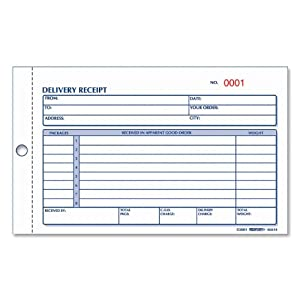 Rediform Delivery Receipt Book, Carbonless, 4.25 x 6.375 Inches, 50 Duplicates (6L614)