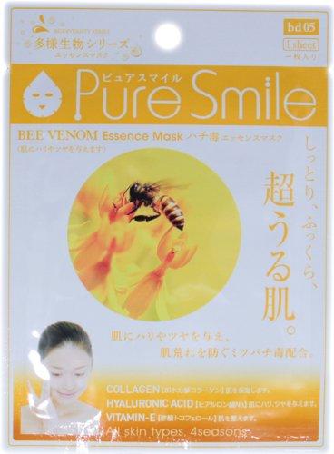 ピュアスマイルエッセンスマスク多様生物シリーズ ハチ毒20枚セット