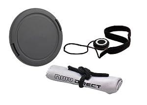 Lens Cap Side Pinch (62mm) + Lens Cap Holder + Nwv Direct Microfiber Cleaning Cloth For Tamron 18-270mm f/3.5-6.3 Di-II VC PZD