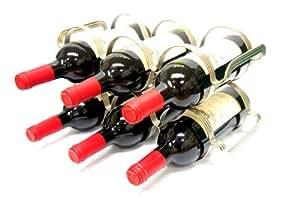 6 Bottle Wine Rack - Silver