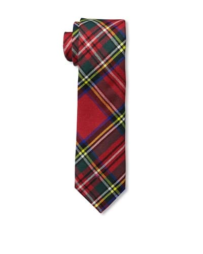 Gitman Brothers Men's Woven Plaid Tie, Red As You See
