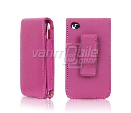 f30682e5c68 VMG Hot Pink Premium Vertical Flip Cover Leather Holster Case w/ Rotating  Belt Clip for