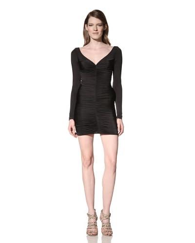 Jay Godfrey Women's Yasuda Ruched Dress  - Black
