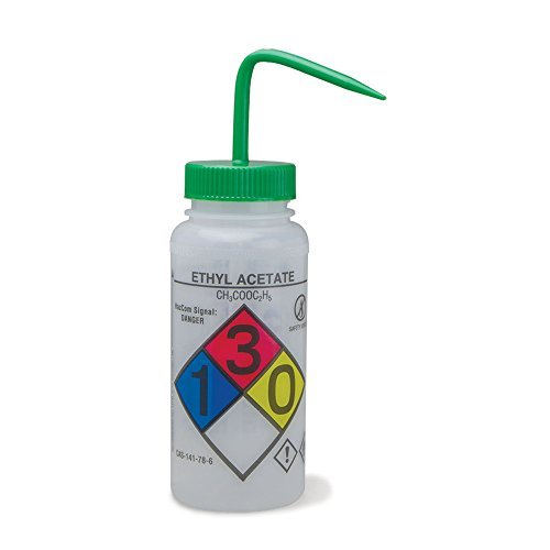 500mL Ethyl Acetate Wash Bottles Vented Right to Know GHS (Ghs Cas compare prices)