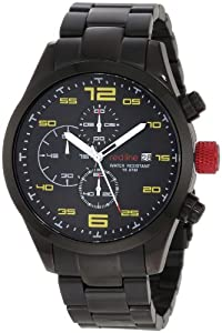 red line Men's 50042-BB-11YL Stealth Chronograph Black Watch