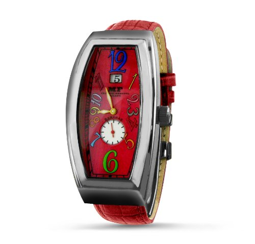 Franchi Menotti Men's 5004 Banana Collection Red with Numbers Dial Watch