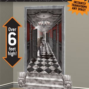 Amscan BB673031 Gothic Mansion Long Hallway Wall Decoration