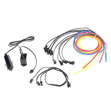 6 mètres Flexible voiture décoratifs Neon Light 4mm EL Wire Rope avec inverseur de voiture de lumière , Pink