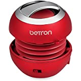 Bluetooth Pop Up Portable Mini Travel II Capsule Rechargeable 40mm Speaker For Iphone, iPod, Ipad, Tablets and MP3 Players (Bluetooth, Red)