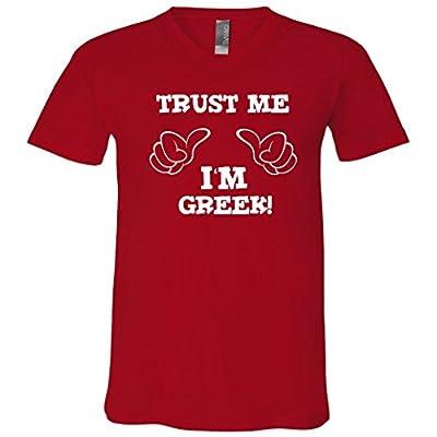 Trust Me I'm Greek V-Neck T-Shirt