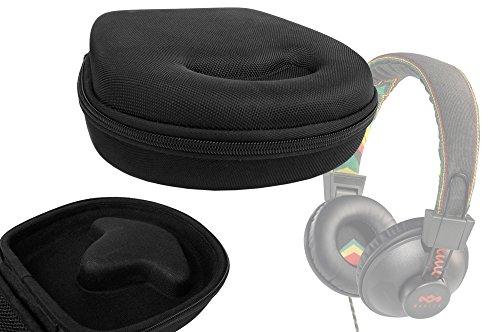 Duragadget Classic Black Hard Protective Headphone Storage Case Suitable For House Of Marley Rise Up (Em-Jh063) & Positive Vibration Rasta / Roots / Sun Headphones (Em-Jh010, Em-Jh013)