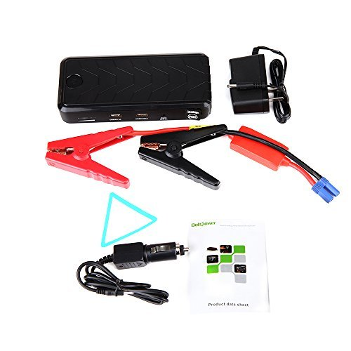Portable GBB 500A Peak Car Jump Starter 12000mAh Battery Booster Emergency 15V Auto Start Power - 3L Gas and 2L Diesel Engine, High Capacity Power Bank for Cellphone Tablet, LED Flash Light for SOS (Peak 900 Amp Lithium Jumper compare prices)