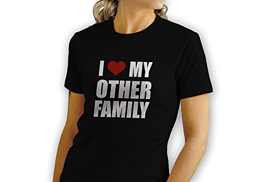 I Love My Other Family - Red Heart - Novelty Gift - Custom Adult Unisex Tshirt