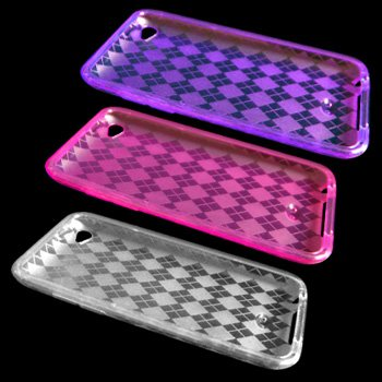 Three Diamond Flex-Gel Cases Skins Covers for Apple iPod Touch 4 4G 4th Gen