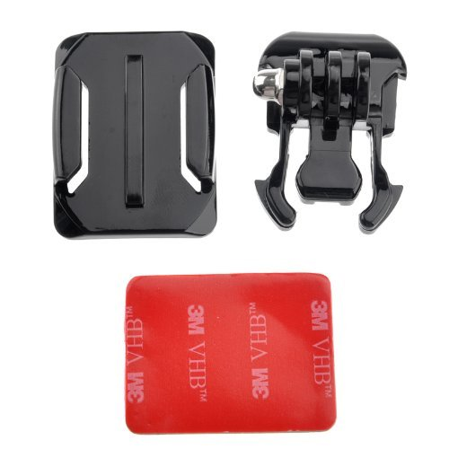Bluefinger Gopro Buckle Basic Strap Mount + Helmet Curved Adhesive Mount With 3M Vhb Sticker For Gopro Hero 3 2 1