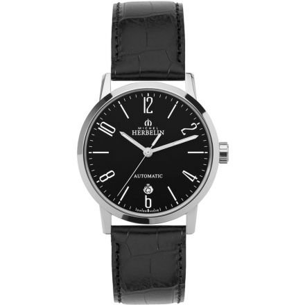 Michel Herbelin Classic Men's Automatic Watch black/silver 1669/04
