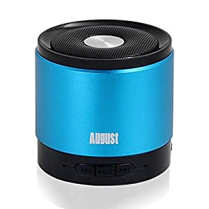 August MS425 Haut-Parleur Bluetooth 4.0 Portable avec Microphone - Enceinte Sans-Fil Puissant et Kit Main-Libre - Compatible avec iPhones, Smartphones Android, PC - Bleu