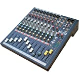 Pyle-Pro PEMP8 8 Channel Mixer With RCA/XLR/8 TRS Line Inputs, LED Indicators, 3 Band EQ