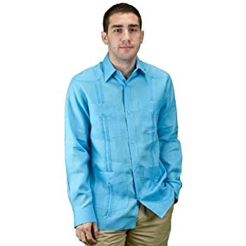 Mens shirt for beach wedding, guayabera shirt.