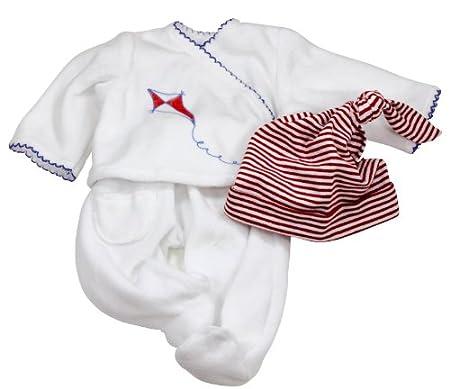 Gotz 3401841 Vetement maritim, blanc avec bonnet, pour poupée 42 - 46 cm