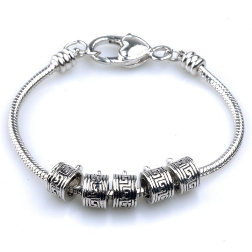 Pugster Regular Pattern Beads Fits Pandora Charms (not Include Bracelet)